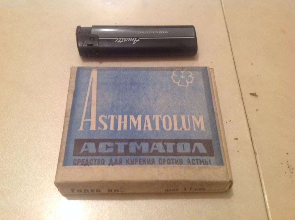 Лечебные сигареты астматол